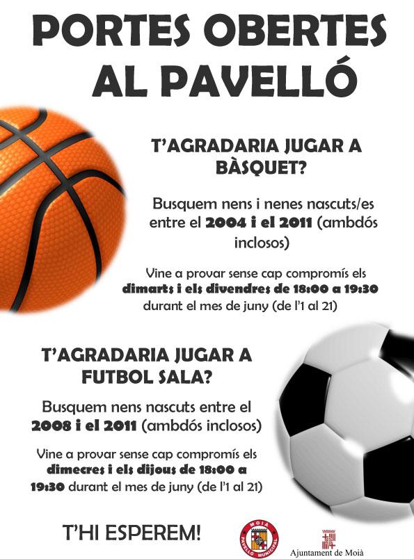 Promoció bàsquet i futbol sala