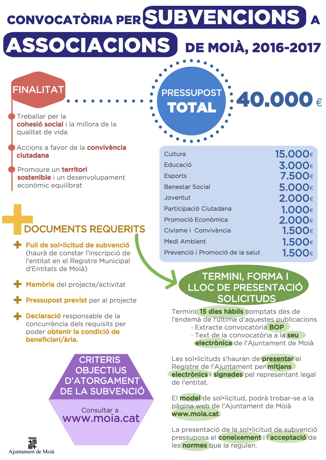Infografia Subvencions