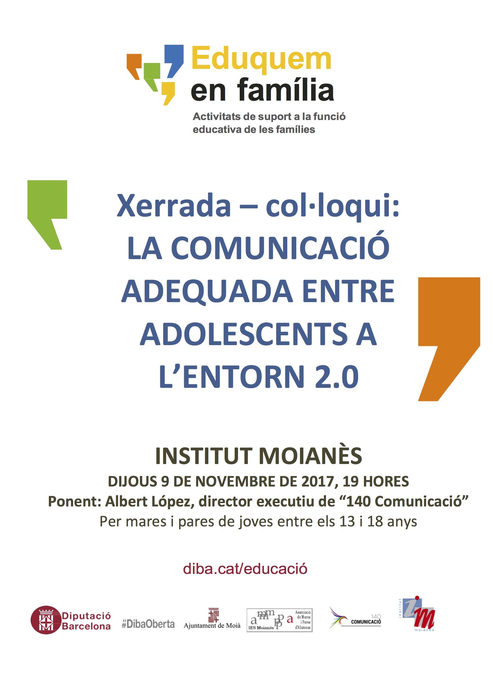 Cartell Comunicació adequada entre adolescents a l'entorn 2.0