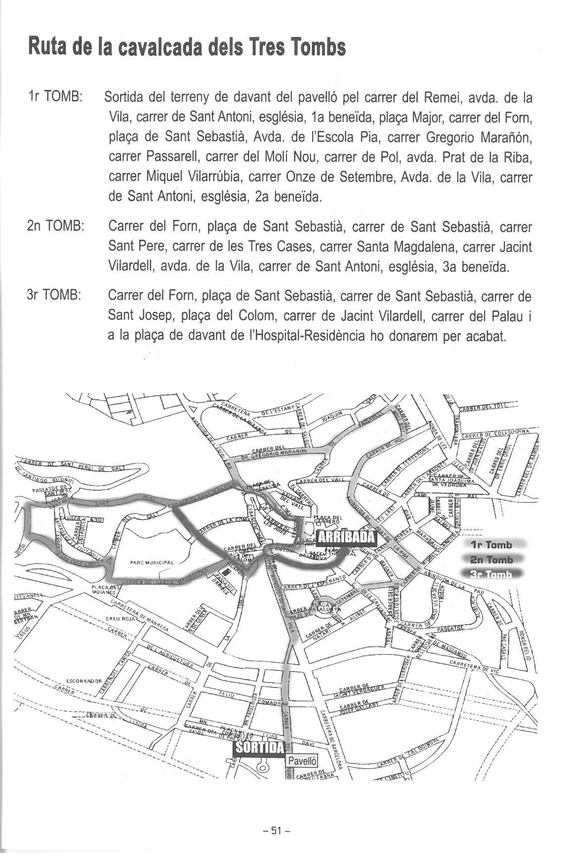 itinerari tres Tombs