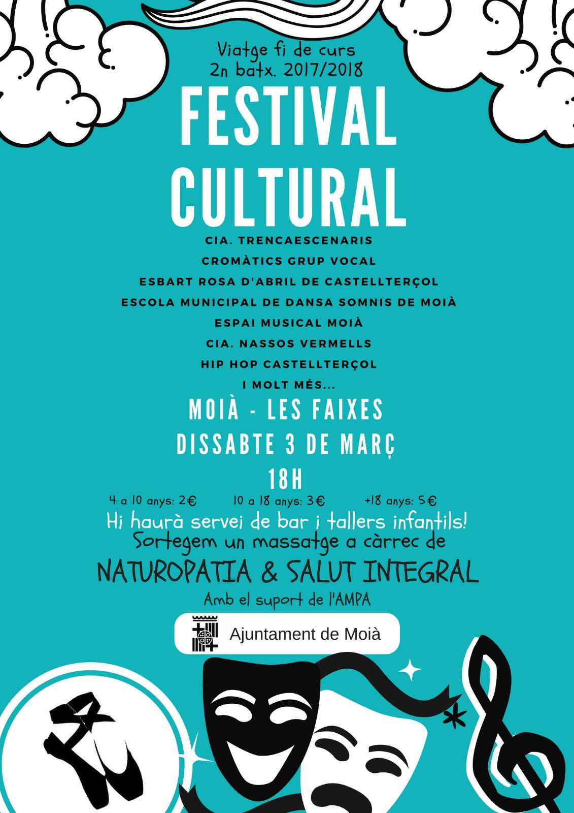 Cartell Festatival Cultural final de Curs