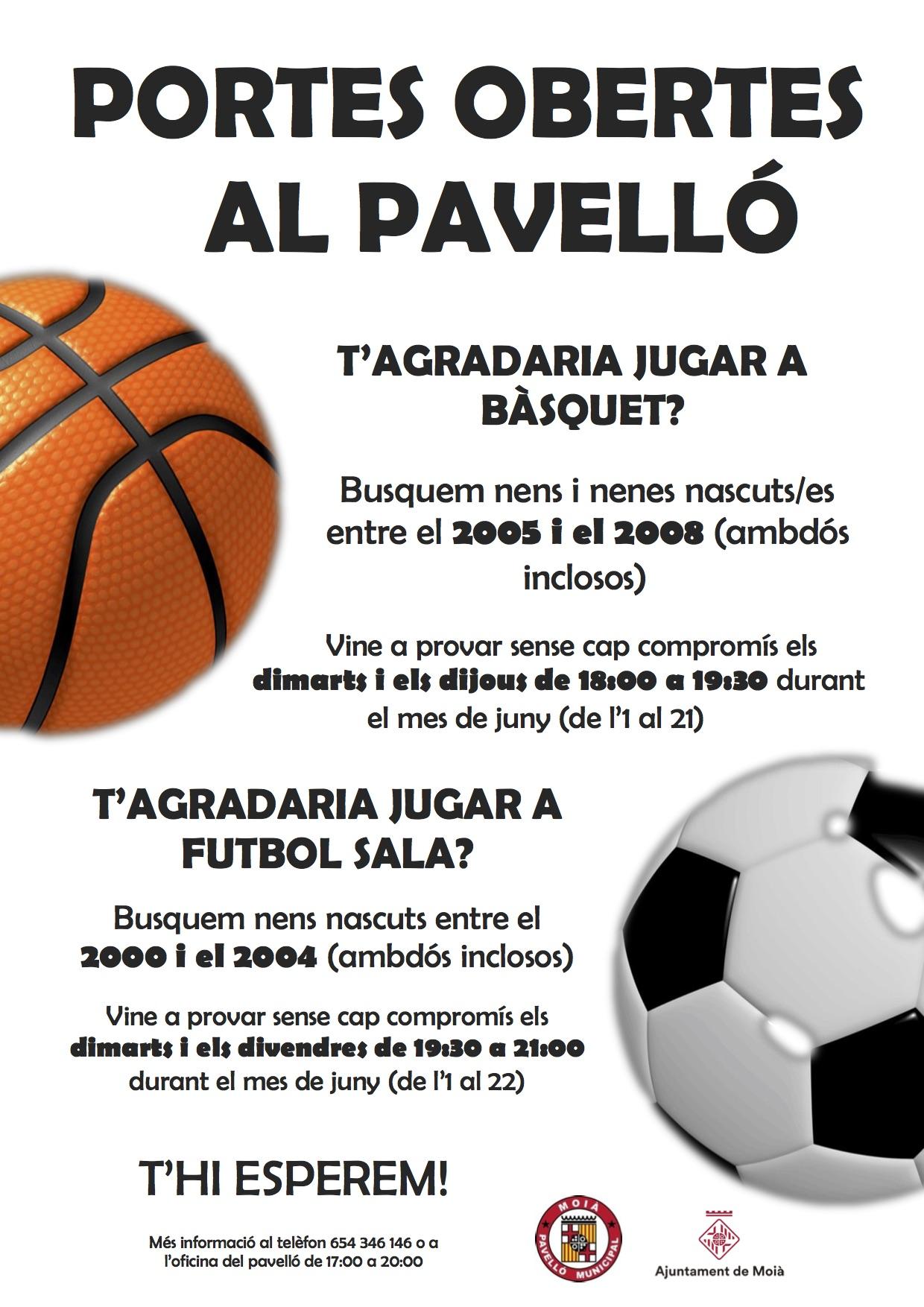 Promoció bàsquet i futbol sala 1819