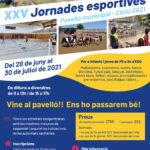 Casal d'estiu 2021: XVV Jornades esportives al pavelló
